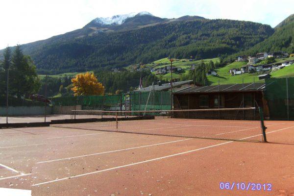 Tennisplatz Sölden Bauphase
